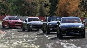 porsche cayenne turbo vs turbo s bmw x6m vs maserati levante s vs porsche cayenne turbo s vs macan