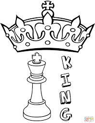 king chess piece coloring page free printable coloring pages