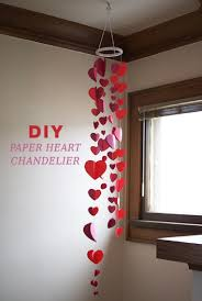diy paper heart chandelier 15 most pinteresting diy paper