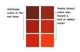 prairie style colors craftsman interior colors