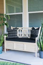 Outdoor Wood Bench With Storage Plans by How To Build A Diy Outdoor Storage Bench