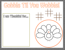 free thanksgiving printables from the bakery activity
