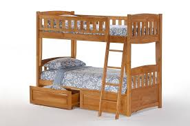 night and day ginger full over full bunk bed w storage stairs