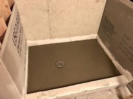 Bathroom Shower Base by Shower Graceful Shower Base Concrete Type Entertain Building