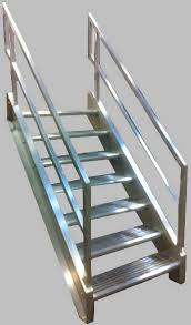 Industrial Stairs Design Welded Aluminum Prefab Stairways Galvanized Stairs Industrial