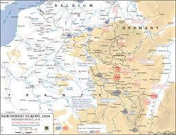 Western Europe Map by Map Of Wwi Western Front 1914