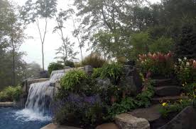 pool landscape planting waterfall cipriano landscape design and