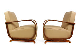 Art Deco Armchairs Art Deco Armchairs In Walnut And Leather 1930s Set Of 2 For Sale