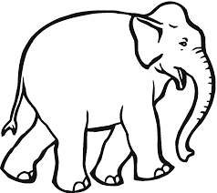 lovely decoration elephant pictures to color free printable
