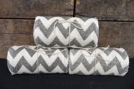 wholesale burlap ribbon white gray chevron burlap ribbon 5 1 2 spool roll