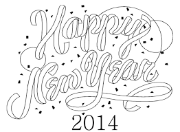 new years day coloring pages