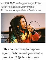 Reggae Meme - april 18 1980 reggae singer robert bob nesta marley performs at