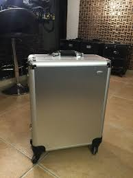 professional makeup artist lighting silver led white light makeup artist box aluminum rolling