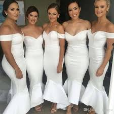bridesmaid dress shops cheap shoulder mermaid bridesmaid dresses 2017