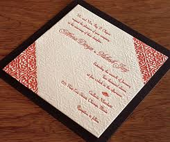 indian wedding invitations chicago indian letterpress wedding card meera invitations by ajalon
