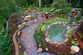 small backyard garden spaces with wood raised bed and low wire