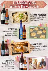 thanksgiving wine and brew pairings monarch beverage company