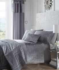 Crushed Velvet Bed Luxury Boulevard Crushed Velvet Panel Duvet Quilt Cover Bedding