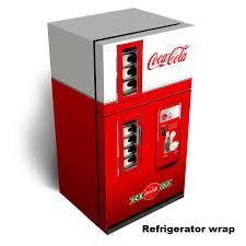 coca cola fridge glass door coca cola vending machine refrigerator wrap u2014 rm wraps