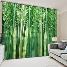 2017 classic home decor green bamboo custom curtain fashion decor
