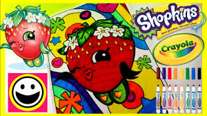 strawberry kiss shopkins crayola giant coloring pages