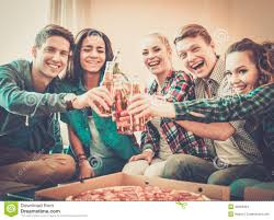 multi ethnic friends having party stock photo image 40984364