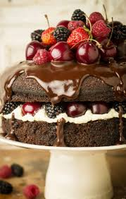the most chocolately cake with fruit reposteria pinterest