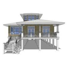 strikingly beautiful narrow lot beach house plans on pilings 4