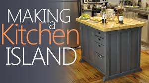 Kitchen Island With Drawers Making My Kitchen Island With Lots Of Storage Youtube