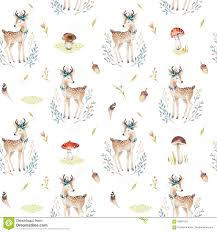 Baby Deer Nursery Cute Baby Deer Animal Nursery Isolated Illustration For Children