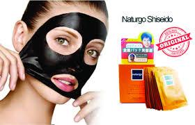 Masker Naturgo Di Jogja pemutih wajah pembersih wajah black peel shishedo naturgo mask