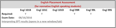 sample essay writing for placement test english placement test for non native speakers of english example 3