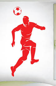 695 best sport wall decals images on pinterest innovation wall boys soccer heading ball wall decal 0295 soccer theme decal sports decal