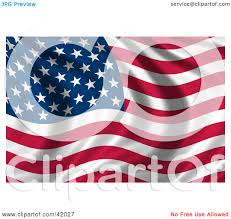 Waving American Flag Clipart Illustration Of A Waving American Flag By