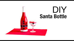how to make santa wine bottle christmas decoration santa clause