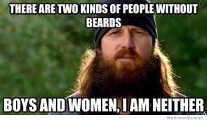 Memes About Beards - there are two kinds of people without beards weknowmemes