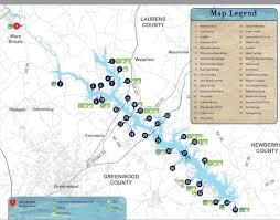 Road Map Of South Carolina Lake Map U2013 Connect Lake Greenwood