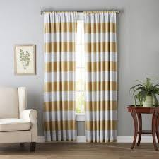 regatta striped blackout thermal curtain panels u0026 reviews birch lane