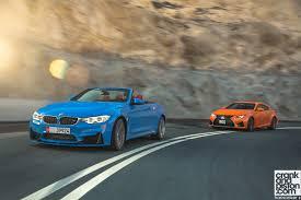 lexus racing wallpaper bmw m4 convertible vs lexus rc f crankandpiston com