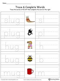 ug word family trace and write in color myteachingstation com
