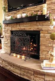 stacked stone fireplace white mantel fireplaces indoor veneer