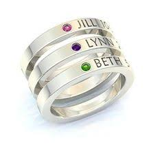 ring with children s names ring s engraved with children s names special person oprah and