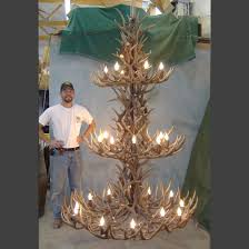 How To Make Deer Antler Chandelier Extra Large Mule Deer Antler Chandelier Antler Chandeliers Rustic