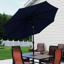 8 Foot Patio Umbrella by Sunnydaze Solar Powered Led Lighted Patio Umbrella With Tilt