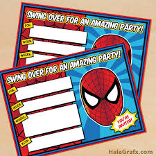 click here to download free printable spider man birthday
