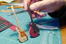 Papercraft Guitar - this miniature papercraft version of is as cool as the band