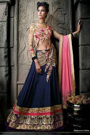 marriage dress buy girlish blue marriage wear designer lehenga choli online for