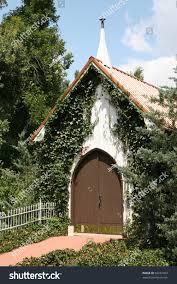 small church wedding small church wedding chapel woods stock photo 60232453