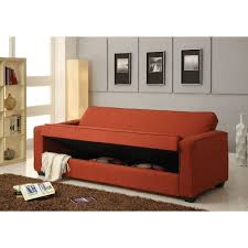 red linen adjustable sofa set w storage