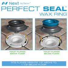 2 Floor Flange by Perfect Seal Toilet Wax Ring Danco